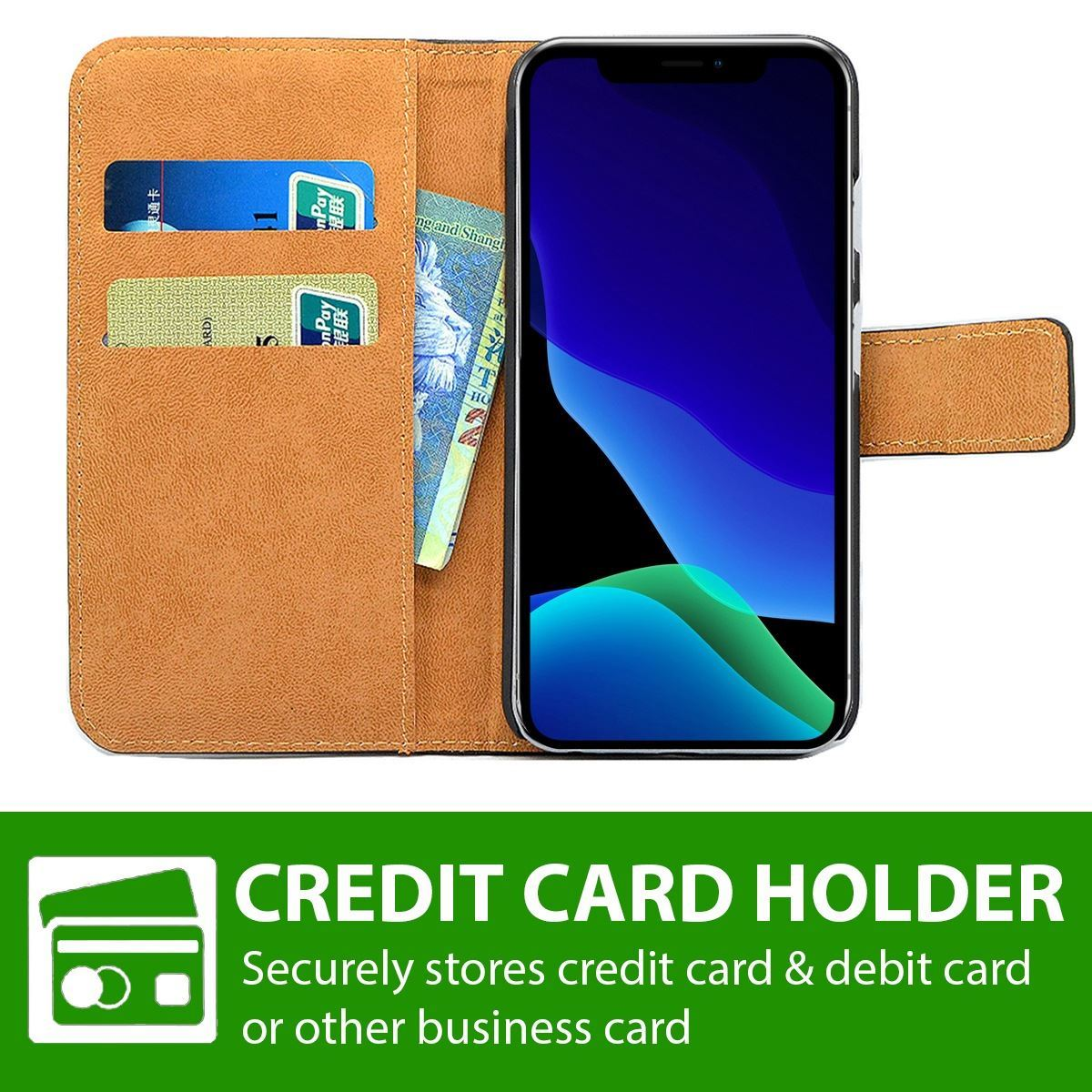 thumbnail 13 - For Apple iPhone 12 11 XR XS Max Leather Flip Wallet Magnetic Stand Card Case