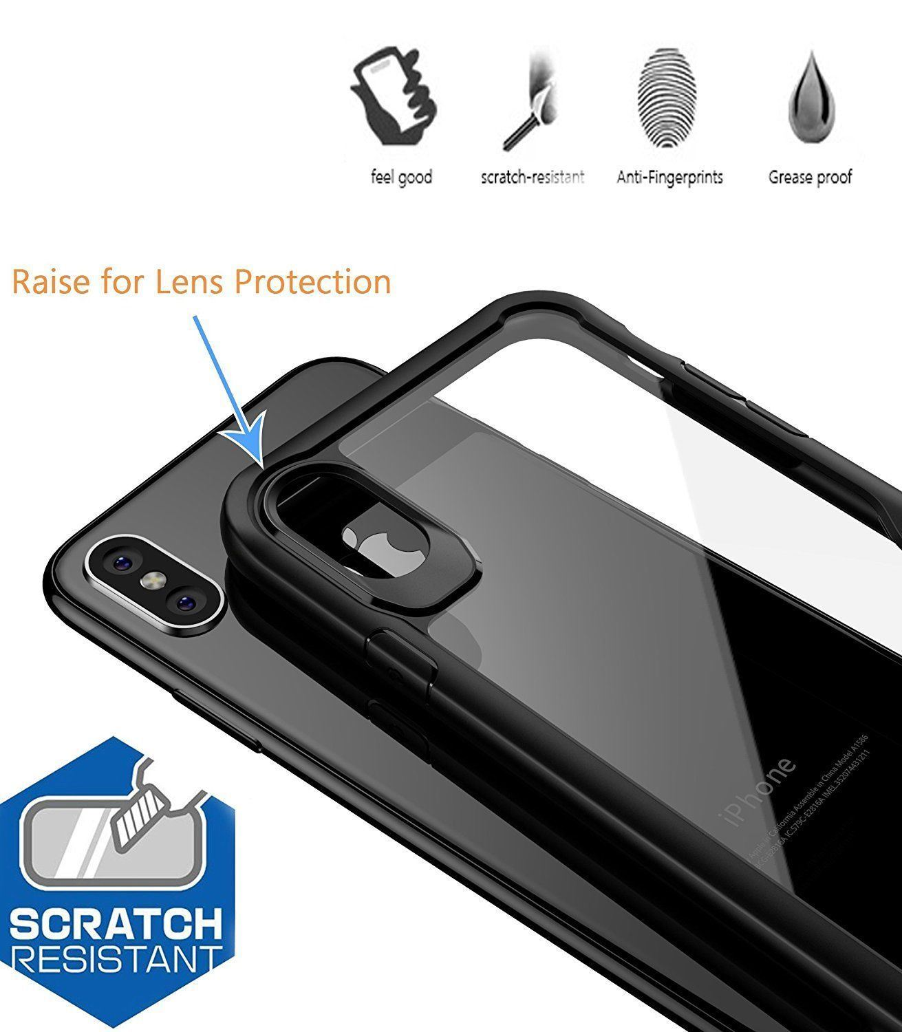 Shockproof-Clear-Thin-Hard-Bumper-TPU-Case-Cover-For-Apple-iPhone-X-8-7-Plus-6s miniatuur 17