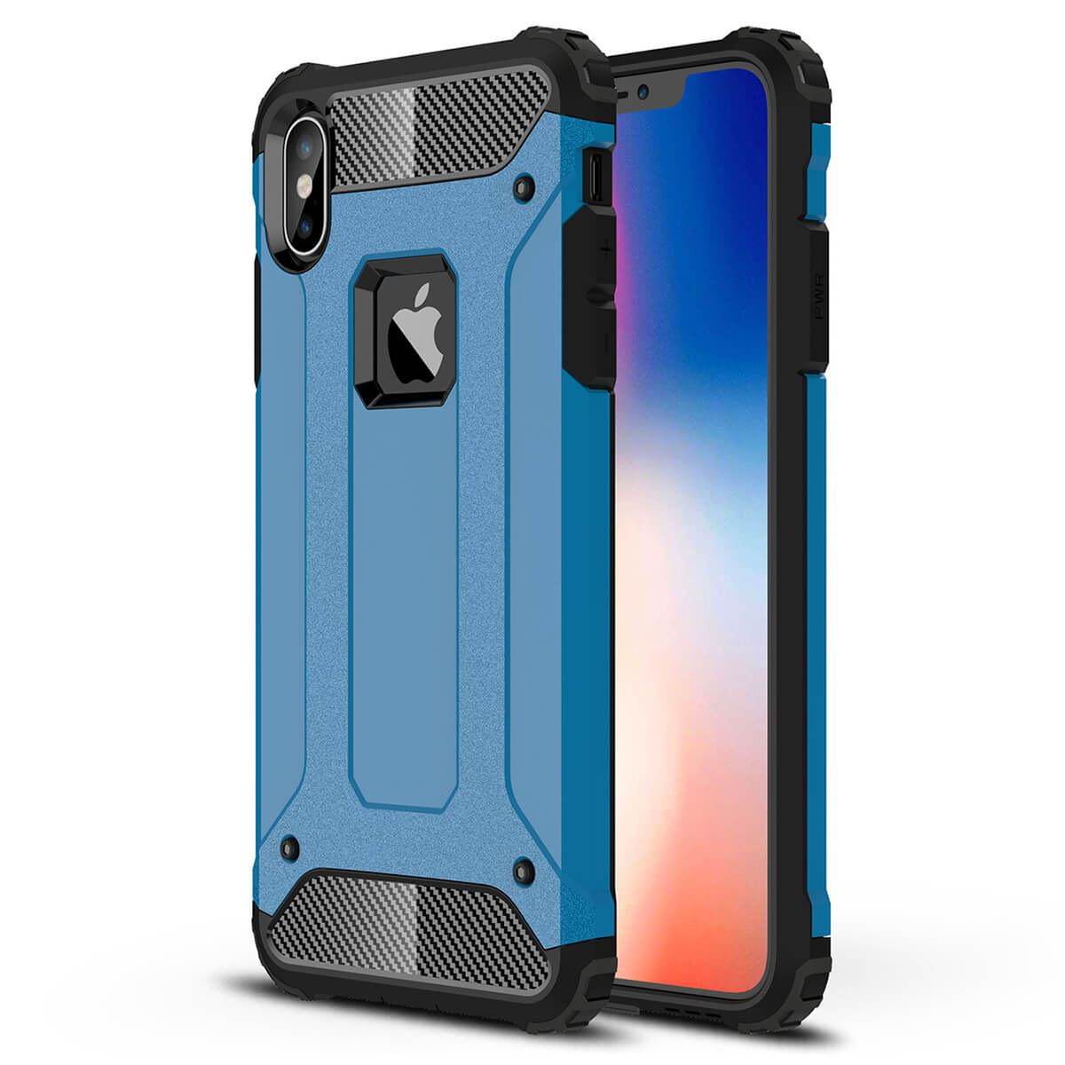 Shockproof-Bumper-Case-For-Apple-iPhone-10-X-8-7-Plus-6s-5s-Hybrid-Armor-Rugged thumbnail 7