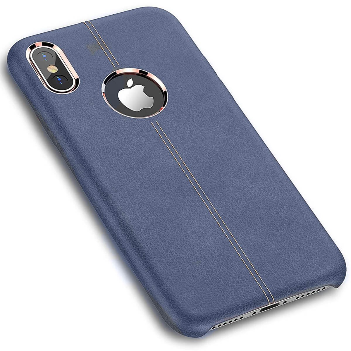 Rugged-Thin-Case-Skin-For-Apple-iPhone-10-X-8-7-Plus-6s-Genuine-Leather-Cover thumbnail 7