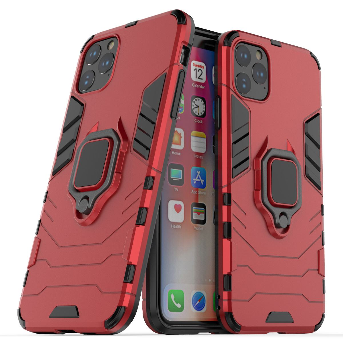 Hybrid-Pc-Case-Cover-For-Apple-iPhone-11-Pro-Max-X-6-7-8-Se-With-Ring-Holder thumbnail 25