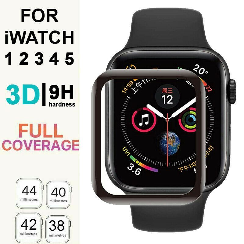 For-Apple-Watch-6-5-4-3-FULL-COVER-Tempered-Glass-Screen-Protector-38-42-40-44mm thumbnail 5