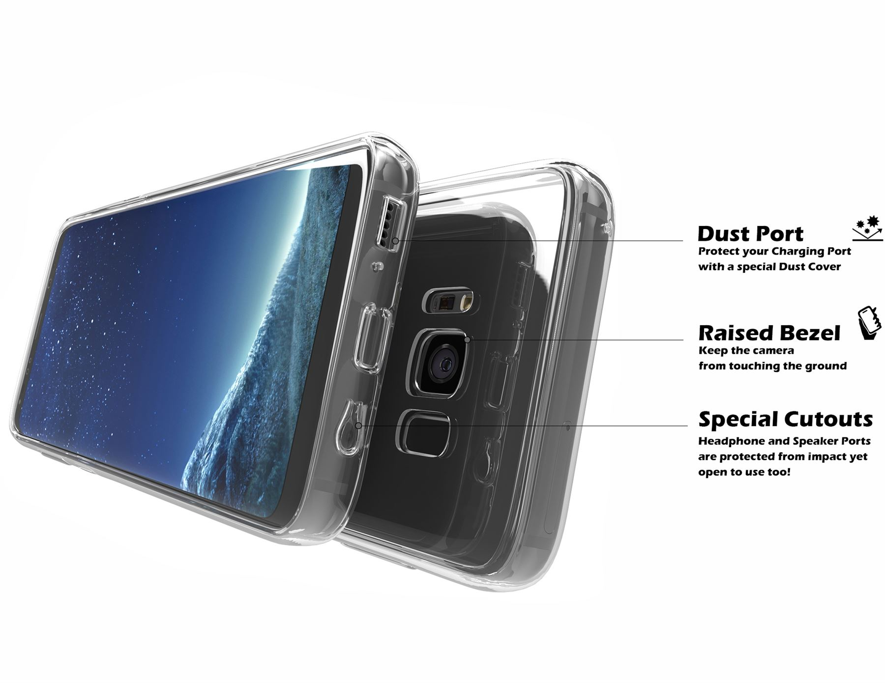 Samsung-Galaxy-S8-S9-Note-8-Shockproof-TPU-Bumper-Gel-Crystal-Clear-Case-Cover 縮圖 12