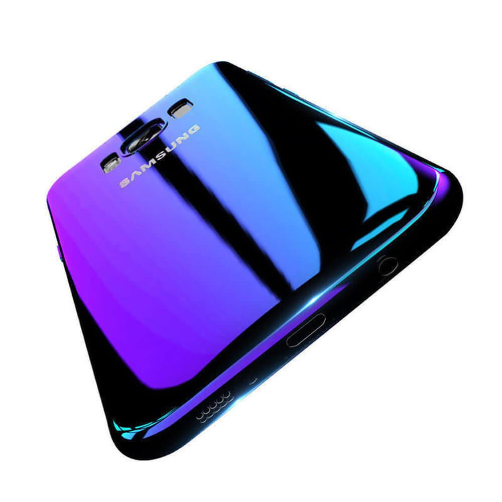 Blu-Ray-Gradient-Colour-Mirror-Hard-Back-Case-Cover-For-Samsung-Galaxy-S7-S8-S9 Indexbild 32