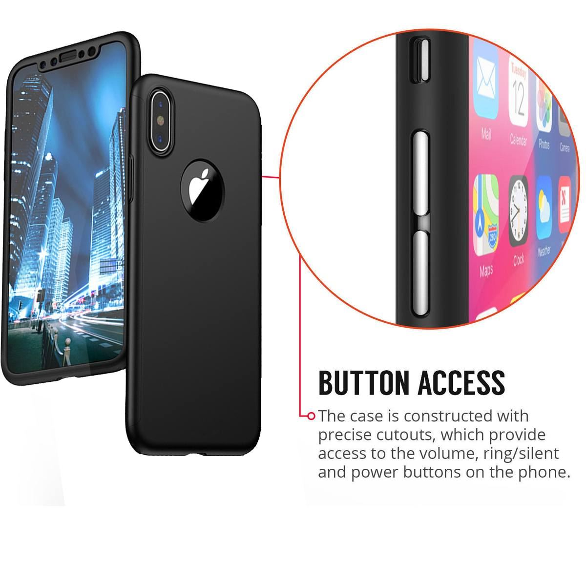 For-Apple-iPhone-XS-Max-XR-Hybrid-360-Slim-Ultra-Thin-Heavy-Duty-Shockproof-Case thumbnail 29