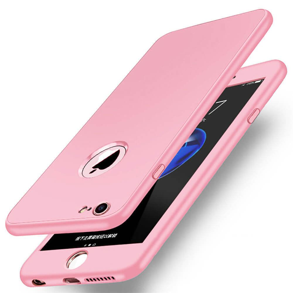 Thin-Shockproof-Hybrid-360-TPU-Gel-Cover-Case-For-Apple-iPhone-10-X-8-7-Plus-6-5