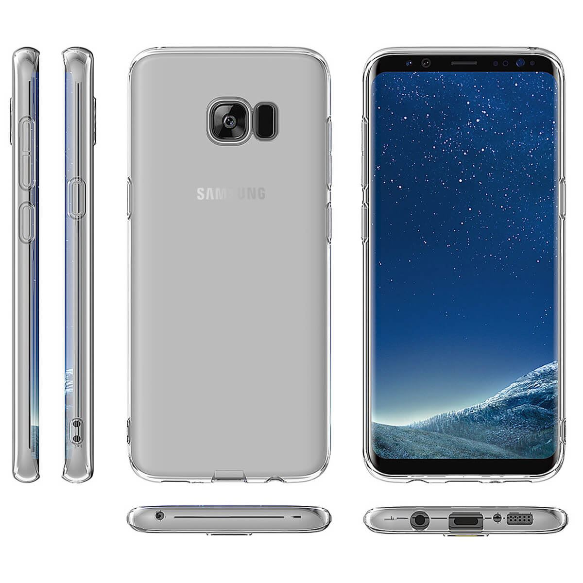 Shockproof-Silicone-Protective-Case-For-Samsung-Galaxy-S7-S8-S9-Gel-Cover-Clear thumbnail 11