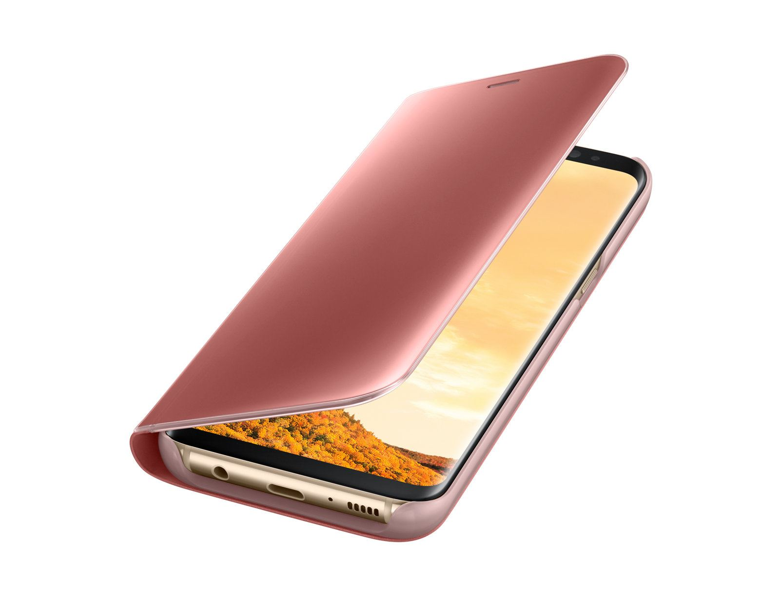 New-Samsung-Galaxy-S8-S9-S10-Smart-View-Mirror-Leather-Flip-Stand-Case-Cover miniatura 23