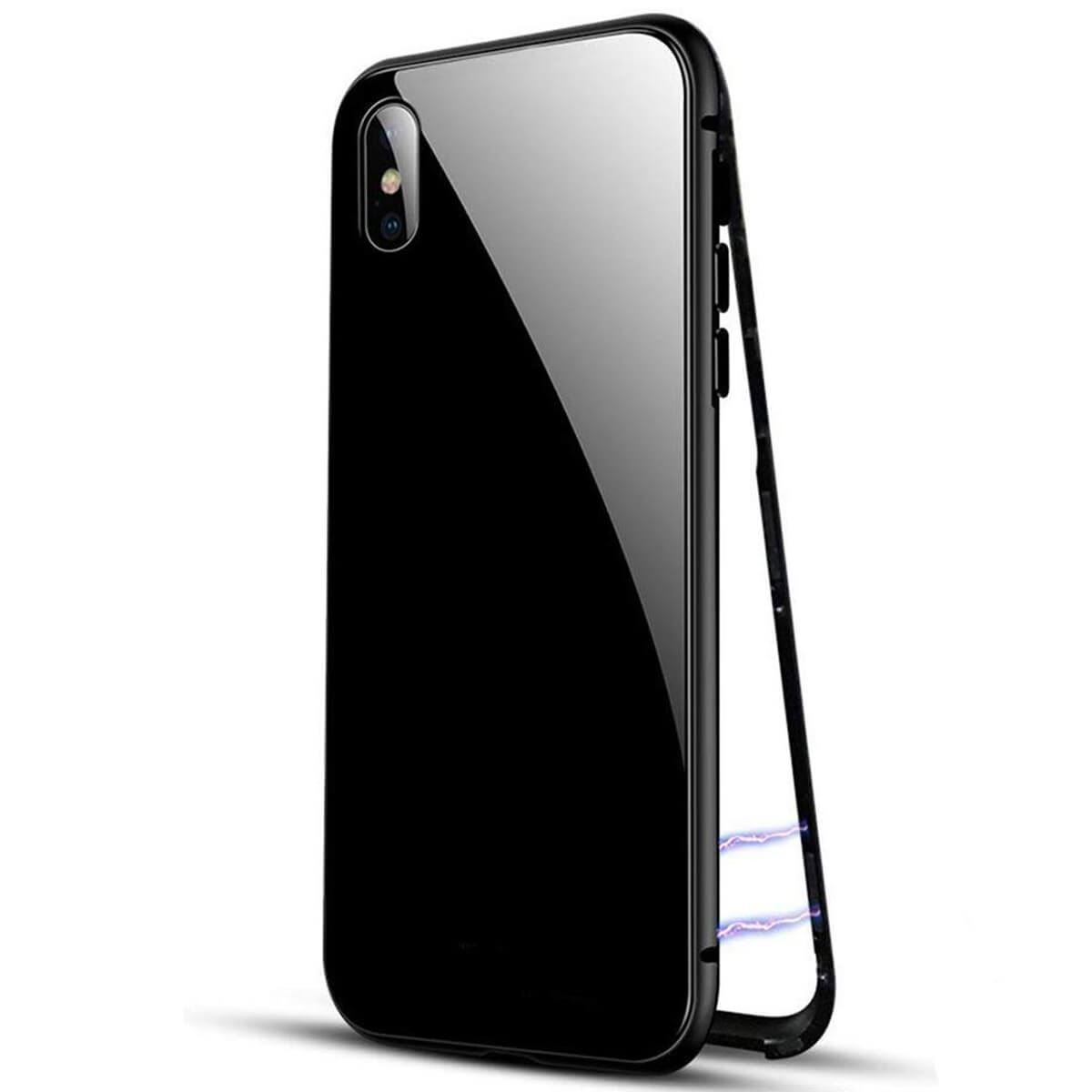 Metal-Magnetic-Adsorption-Case-For-iPhone-X-8-7-6s-6-Luxury-Tempered-Glass-Cover thumbnail 5