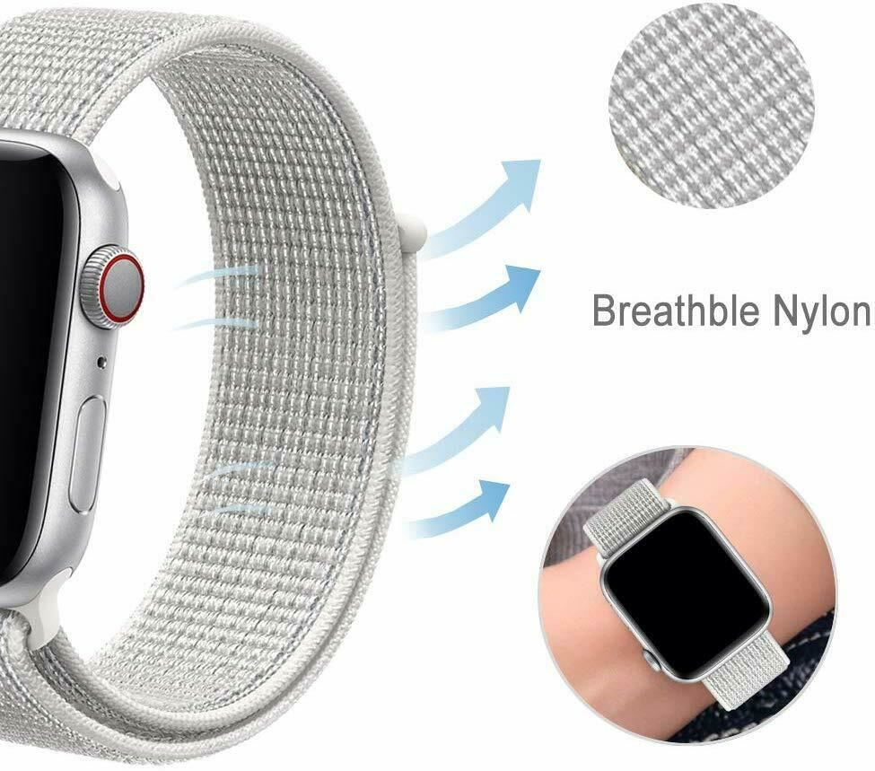 Band-Strap-For-Apple-Watch-Adjustable-Waterproof-Braided-Nylon-Material thumbnail 27