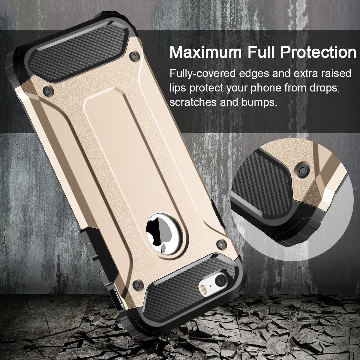 Hybrid-Armor-Shockproof-Rugged-Bumper-Case-For-Apple-iPhone-10-X-8-7-Plus-6s-5s miniature 50