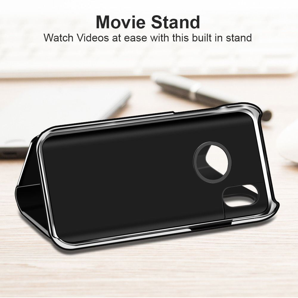 New-Apple-iPhone-6-6s-7-8-X-Plus-Smart-View-Mirror-Leather-Flip-Stand-Case-Cover miniature 16
