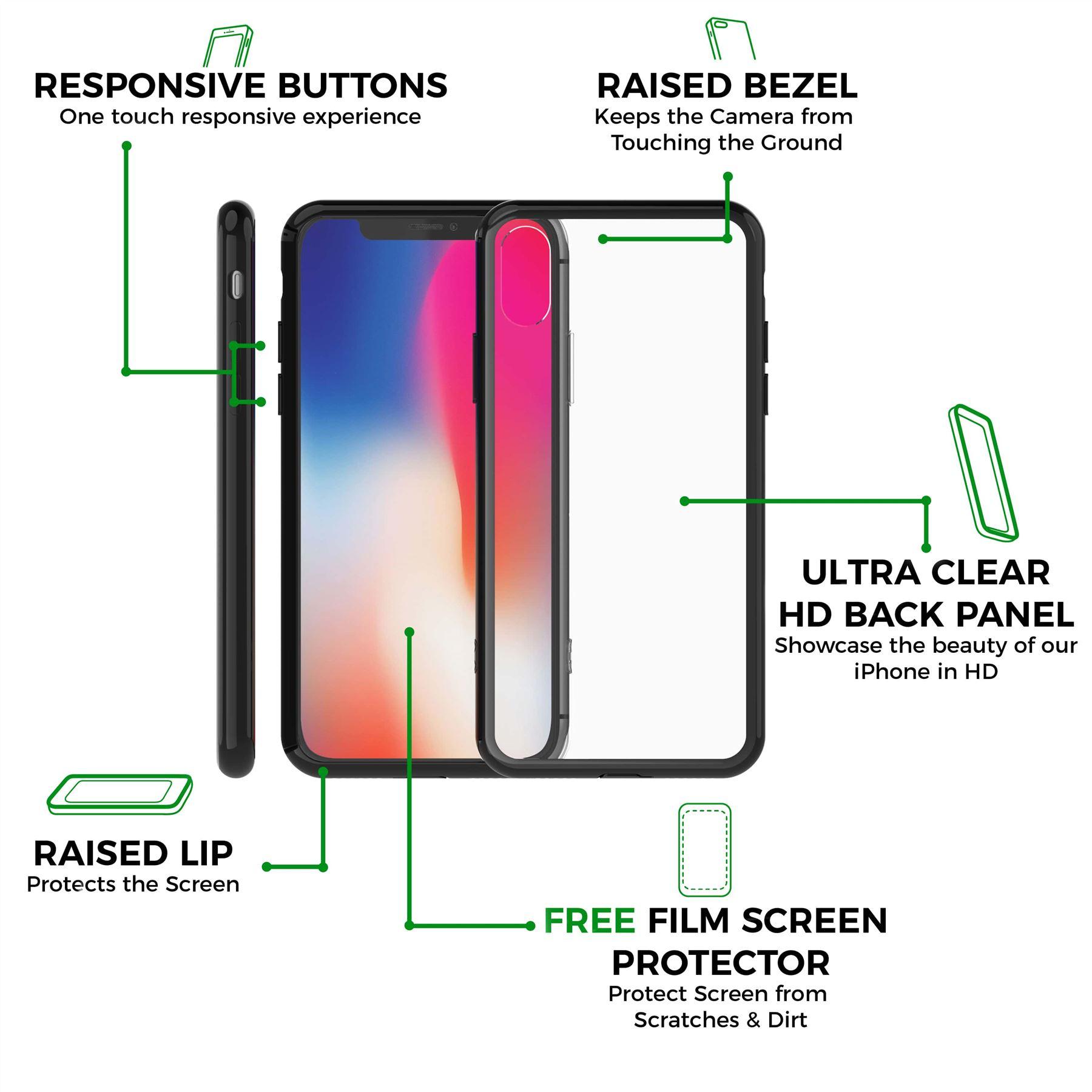 thumbnail 9 - For Apple iPhone XR Xs Max X 8 7 Plus 6 5 Se Case Cover Clear Transparent CS283