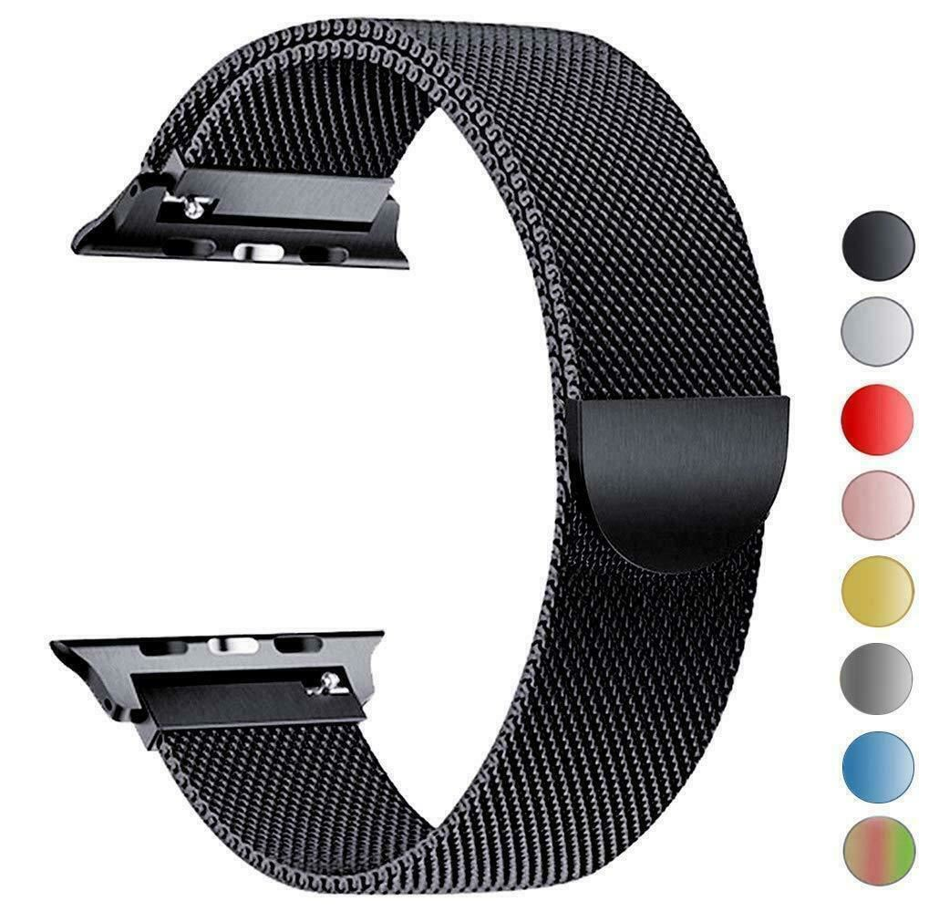 Band-For-Apple-Watch-Milannese-Loop-Stainless-Steel-Strap thumbnail 4