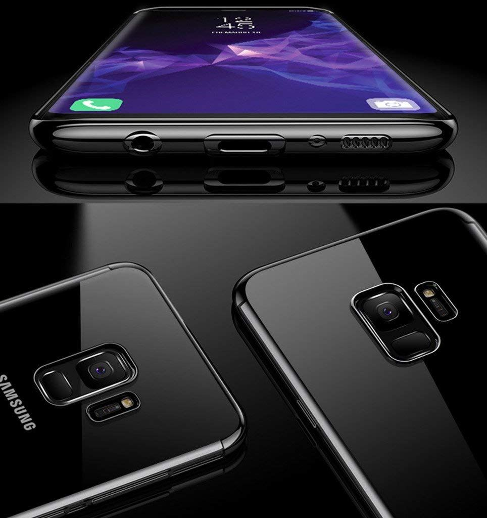 Luxury-Ultra-Slim-Shockproof-Silicone-Clear-Case-Cover-For-Samsung-Galaxy-S8-S9 miniature 31