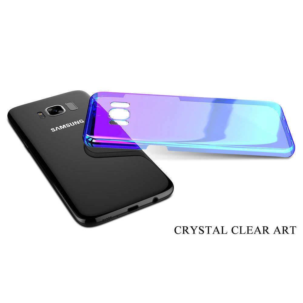 Blu-Ray-Gradient-Colour-Mirror-Hard-Back-Case-Cover-For-Samsung-Galaxy-S7-S8-S9 Indexbild 30