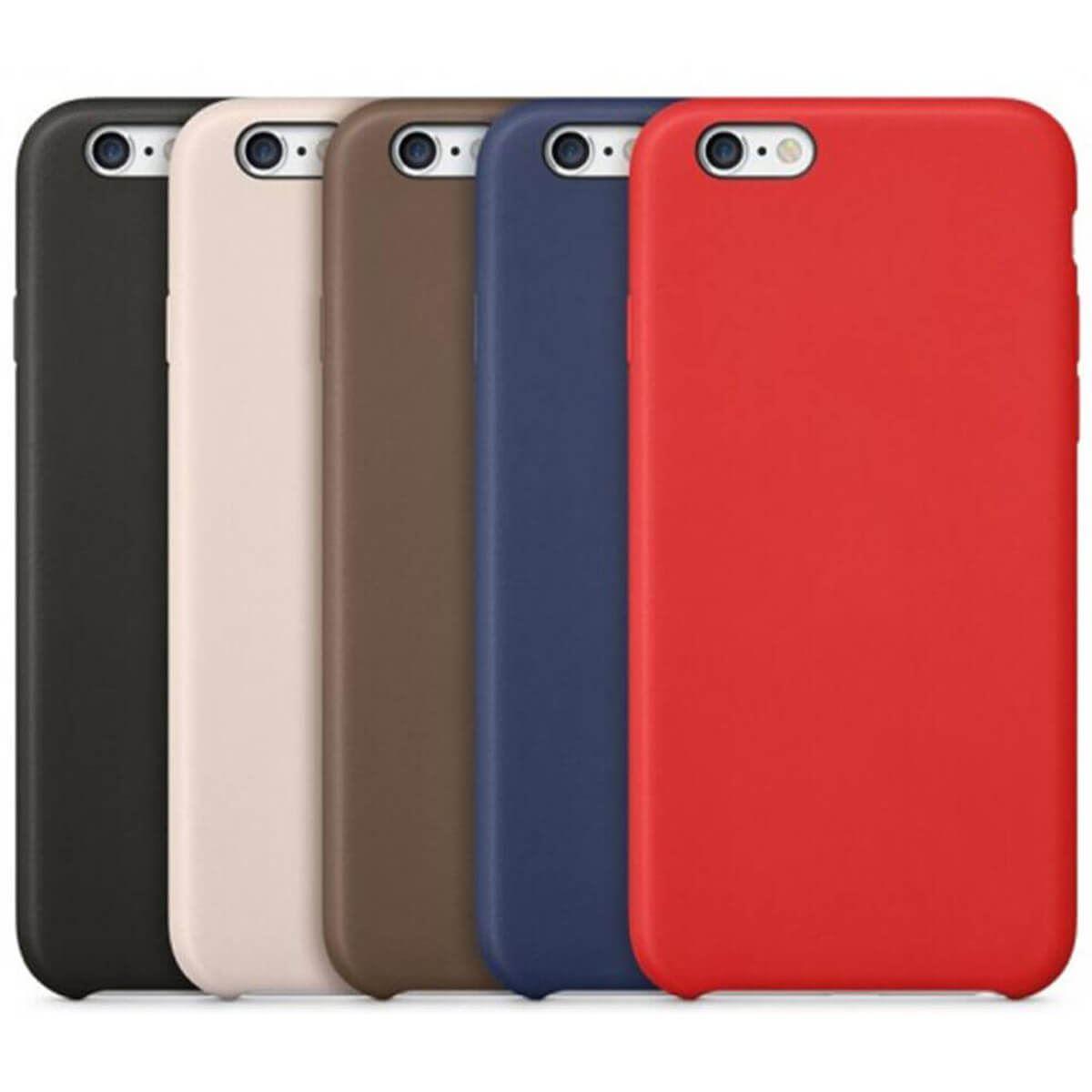 Leather-Slim-Case-Apple-iPhone-10-8-7-Plus-6s-5-Original-PU-Soft-Silicone-Cover thumbnail 6