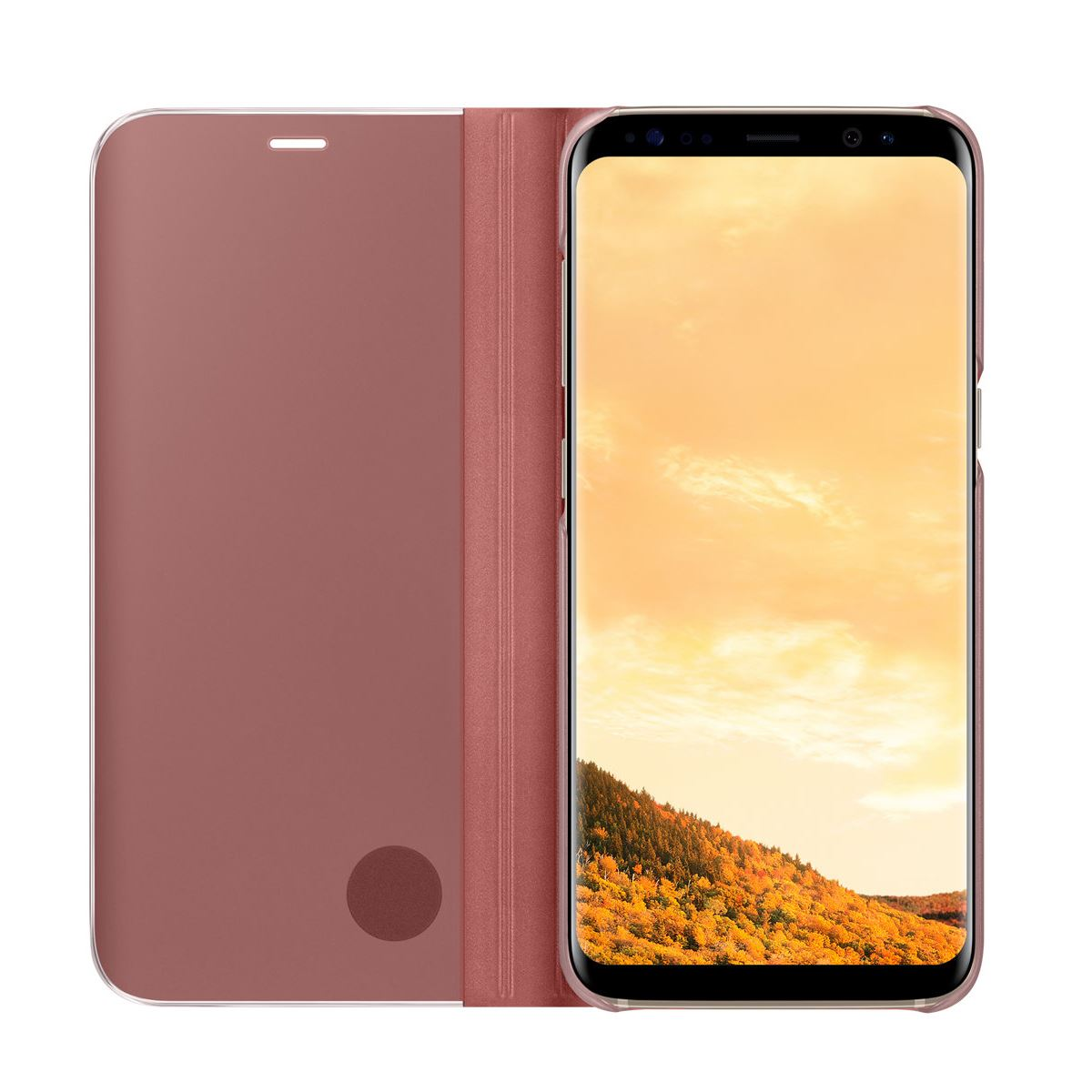 New-Samsung-Galaxy-S8-S9-S10-Smart-View-Mirror-Leather-Flip-Stand-Case-Cover miniatuur 20