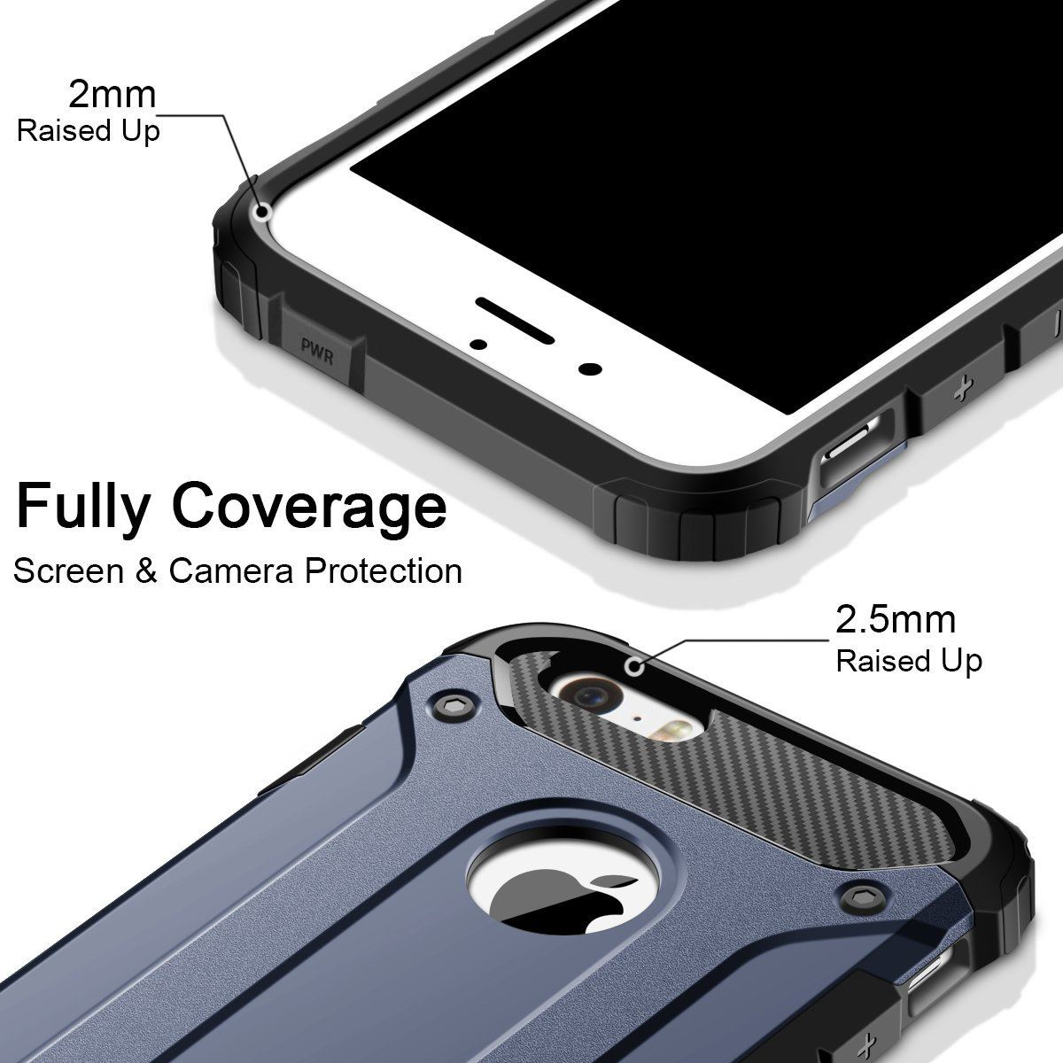 Hybrid-Armor-Shockproof-Rugged-Bumper-Case-For-Apple-iPhone-10-X-8-7-Plus-6s-5s miniature 61