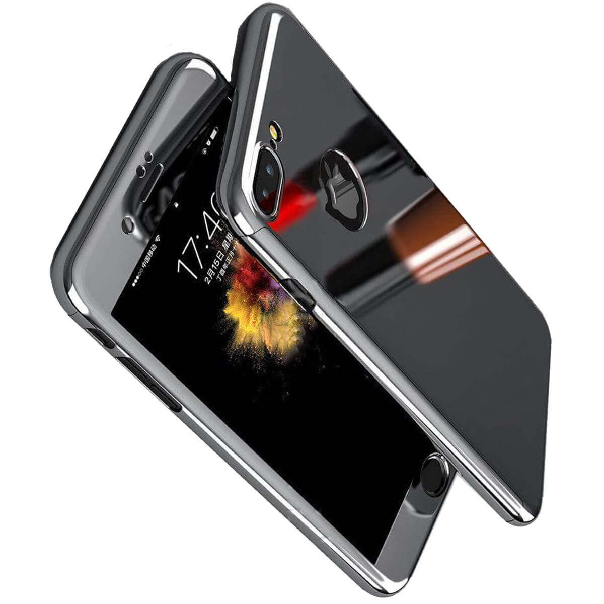 Tempered-Glass-Cover-For-iPhone-X-8-7-Plus-6s-5-Mirror-Hybrid-360-Hard-Thin-Case thumbnail 20