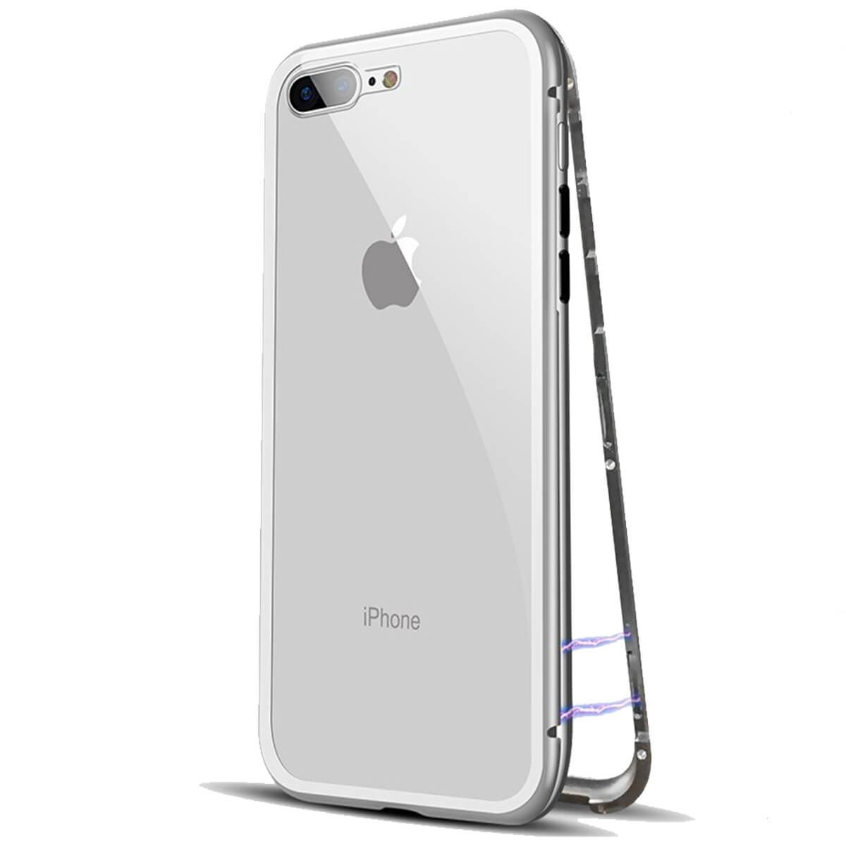 Metal-Magnetic-Adsorption-Case-For-iPhone-X-8-7-6s-6-Luxury-Tempered-Glass-Cover thumbnail 8