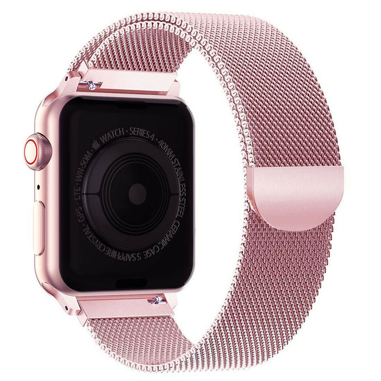 Band-For-Apple-Watch-Milannese-Loop-Stainless-Steel-Strap thumbnail 39