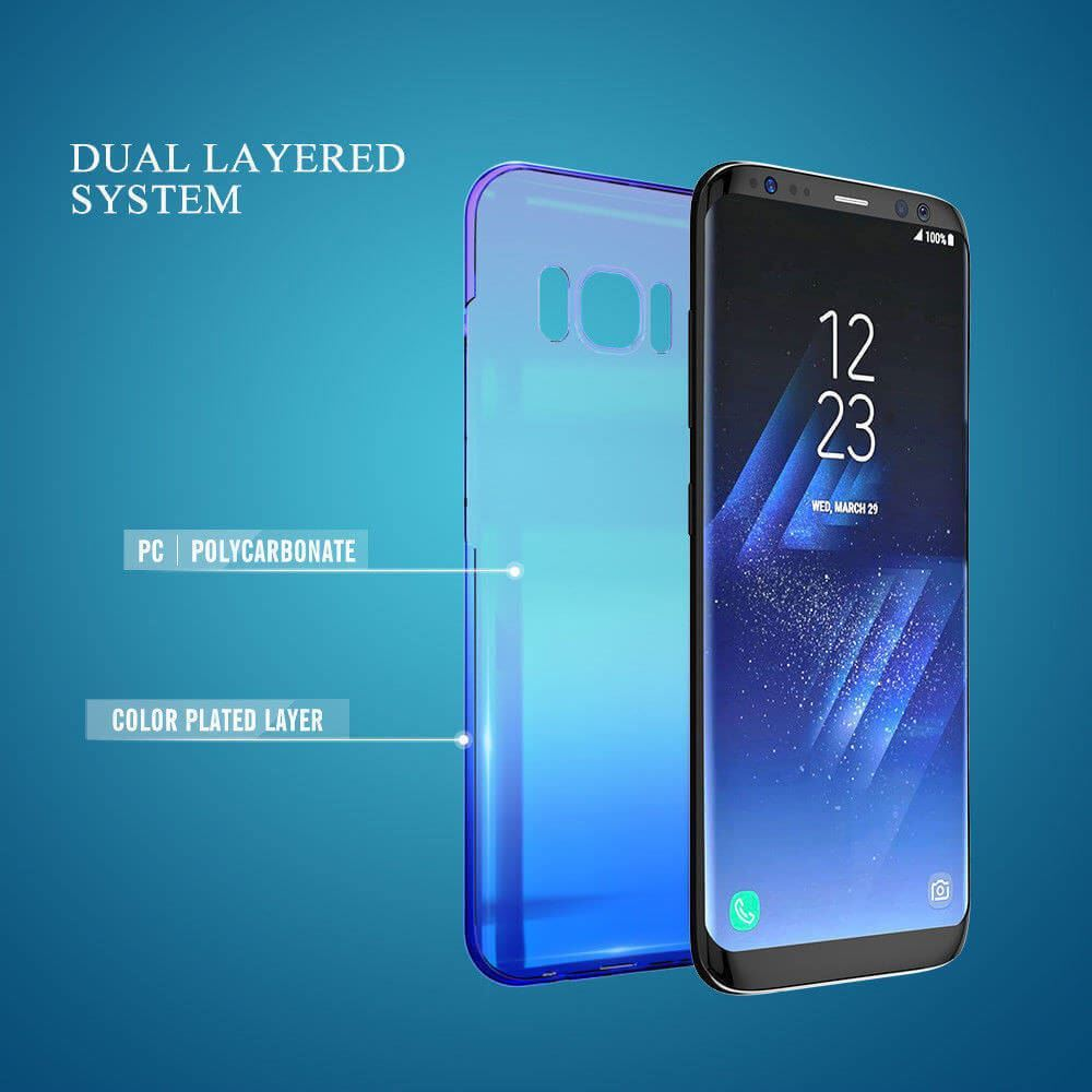 Blu-Ray-Gradient-Colour-Mirror-Hard-Back-Case-Cover-For-Samsung-Galaxy-S7-S8-S9 Indexbild 26