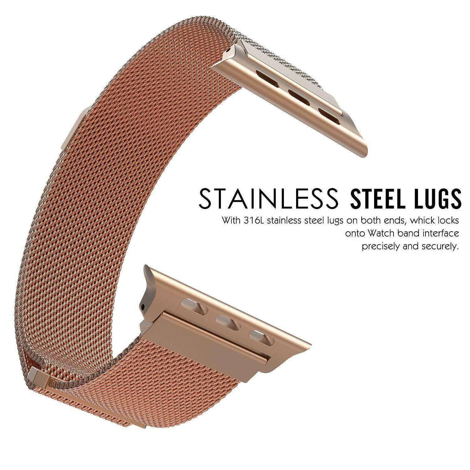 Band-For-Apple-Watch-Milannese-Loop-Stainless-Steel-Strap thumbnail 13