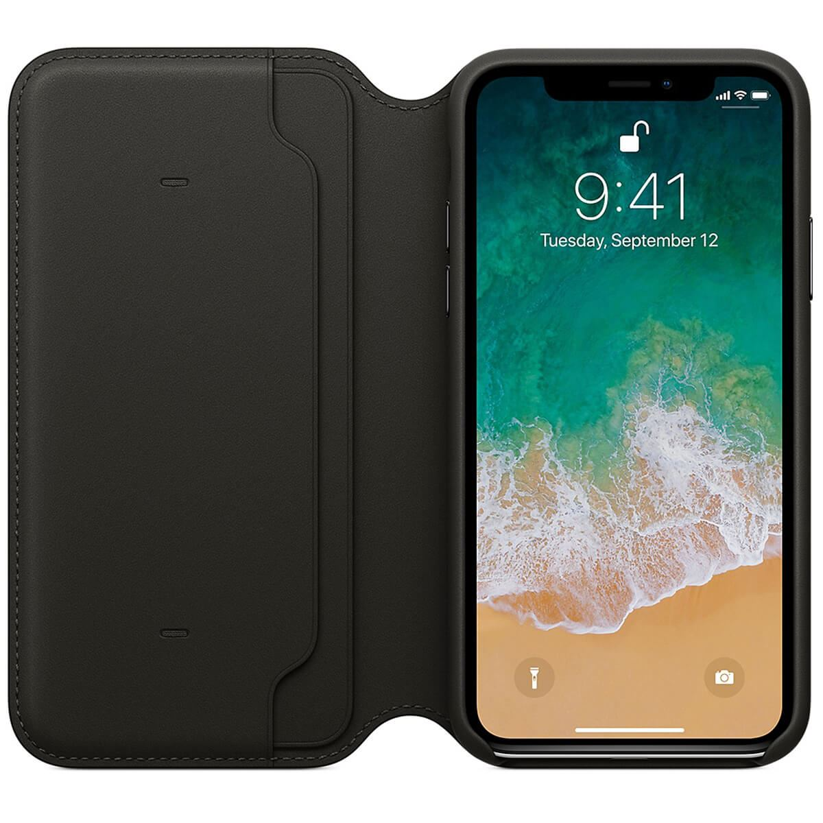 Genuine-Leather-Folio-Flip-Wallet-Case-Cover-For-Apple-iPhone-X-8-7-6S-6-Plus thumbnail 5