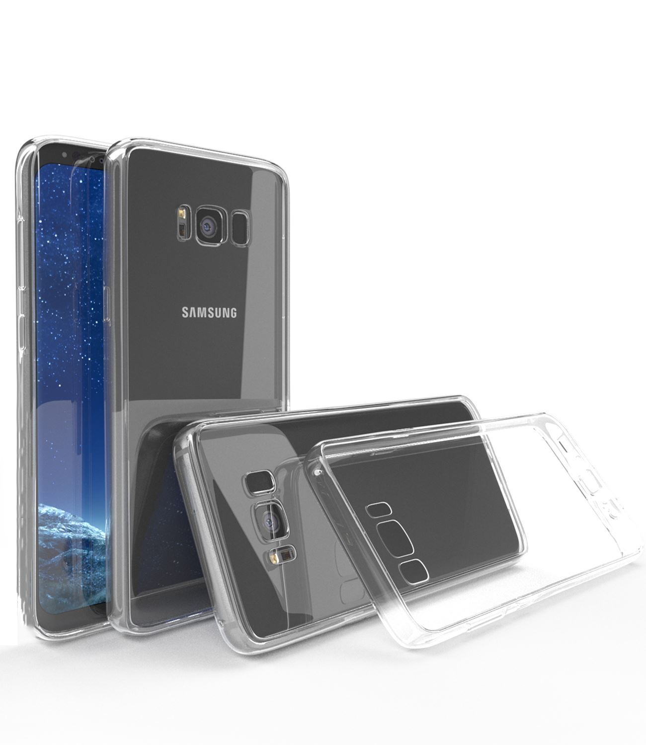 Samsung-Galaxy-S8-S9-Note-8-Shockproof-TPU-Bumper-Gel-Crystal-Clear-Case-Cover 縮圖 15