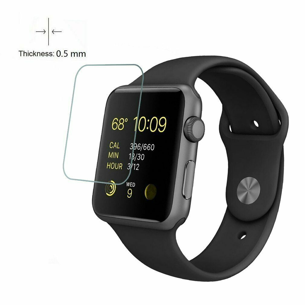 For-Apple-Watch-Series-6-SE-5-4-3-38-40-42-44mm-Tempered-Glass-Screen-Protector thumbnail 3