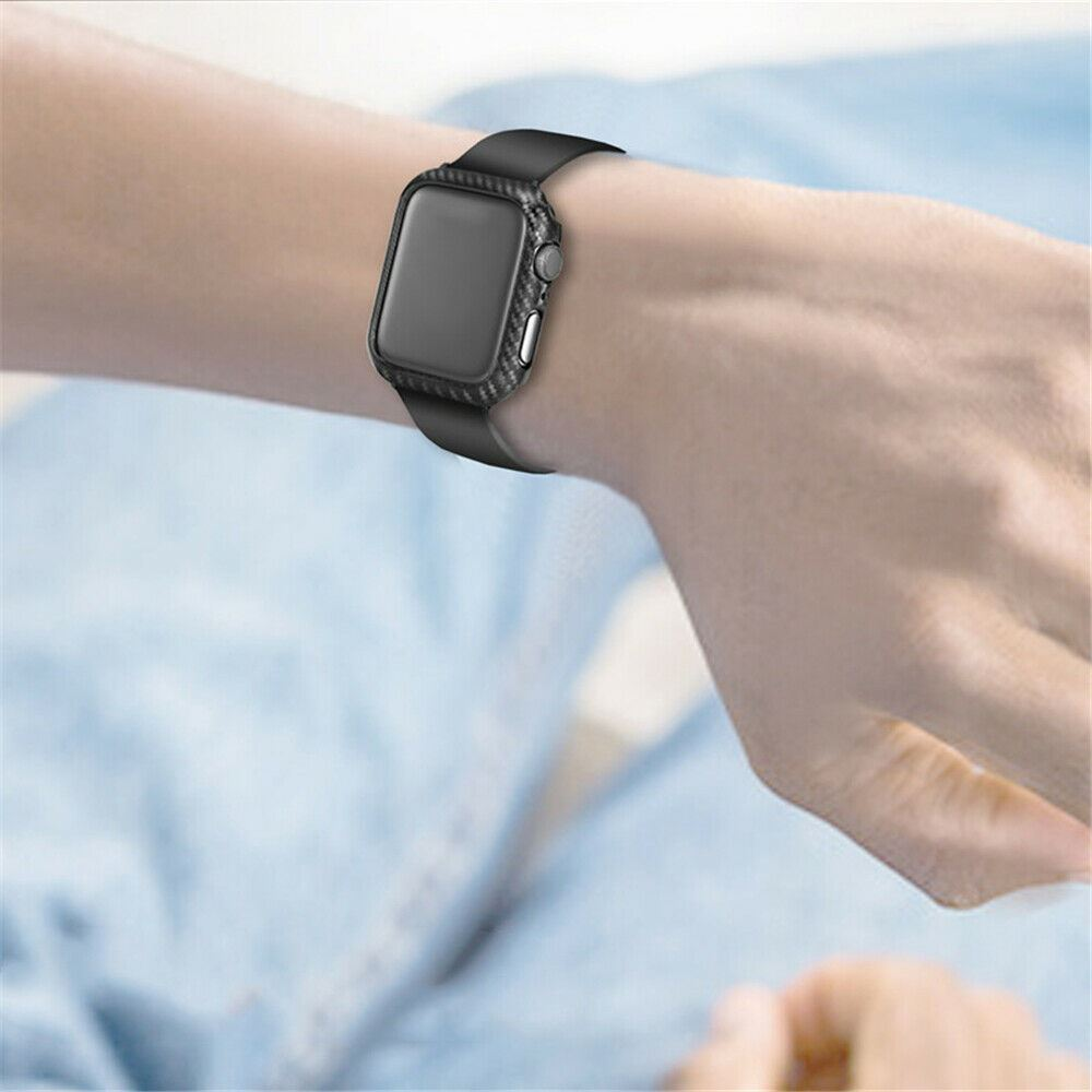 Protective-Carbon-Case-For-Apple-Watch-Black thumbnail 7