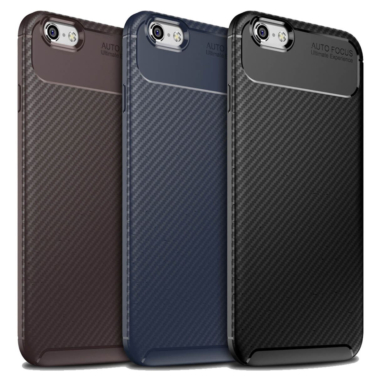 Carbon-Fibre-Soft-Case-For-iPhone-11-X-XR-Max-8-7-6-Plus-Slim-TPU-Silicone-Cover thumbnail 3