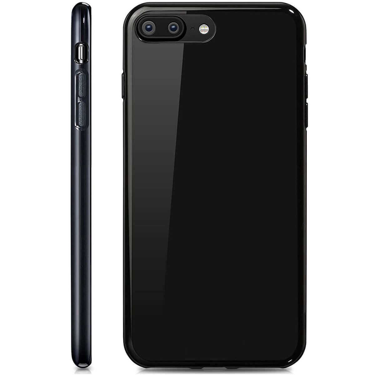 Ultra-Thin-Case-Apple-iPhone-10-X-8-7-6s-5s-Shockproof-Jelly-TPU-Jet-Black-Cover thumbnail 4