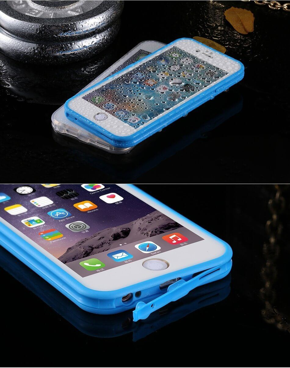 Waterproof-Shockproof-Hybrid-Rubber-TPU-Case-Cover-For-iPhone-10-X-8-7-Plus-6s-5 miniatura 64