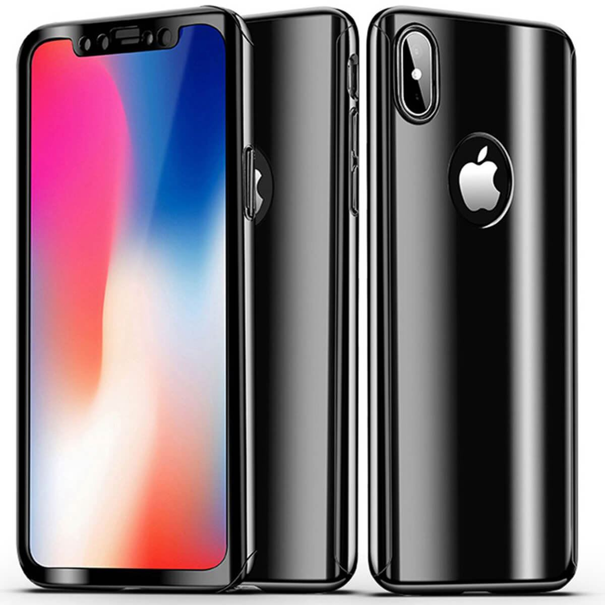 Tempered-Glass-Cover-For-iPhone-X-8-7-Plus-6s-5-Mirror-Hybrid-360-Hard-Thin-Case thumbnail 5