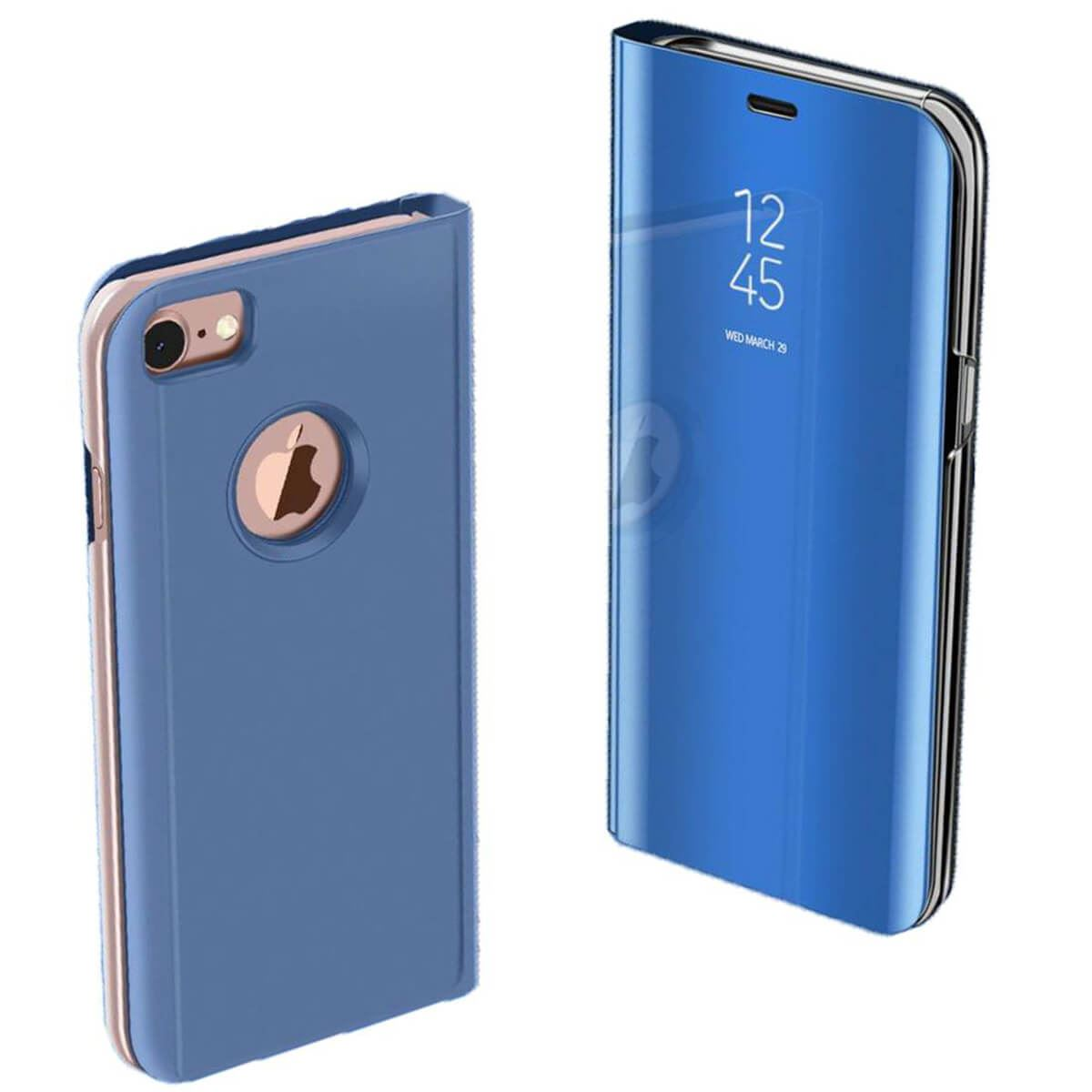 Apple-iPhone-6-6s-7-8-X-Plus-Smart-View-Mirror-Leather-Flip-Stand-Case-Cover thumbnail 8