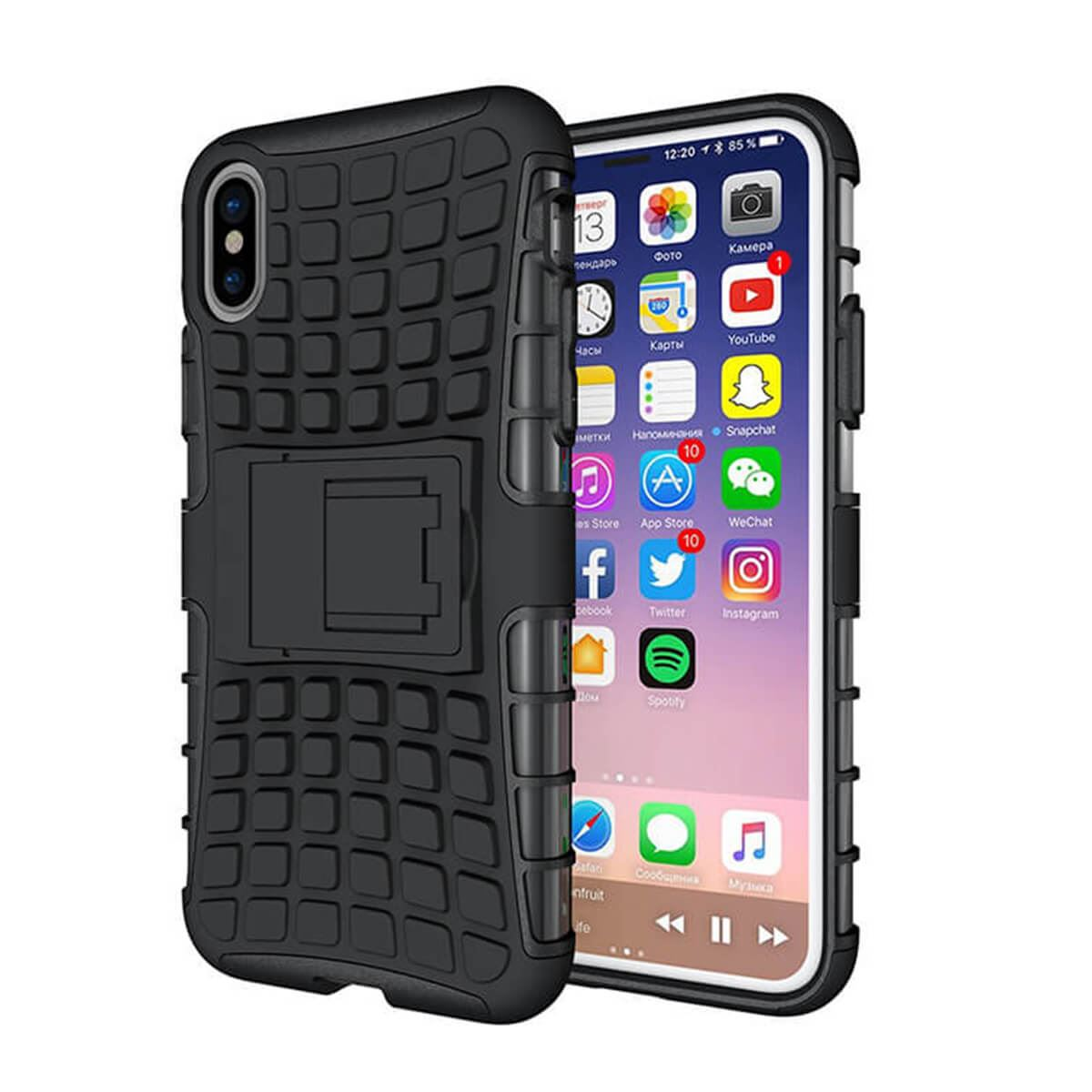Shockproof-Case-Apple-iPhone-10-X-8-7-6s-Se-5-Hard-Heavy-Duty-Stand-Armour-Cover thumbnail 5