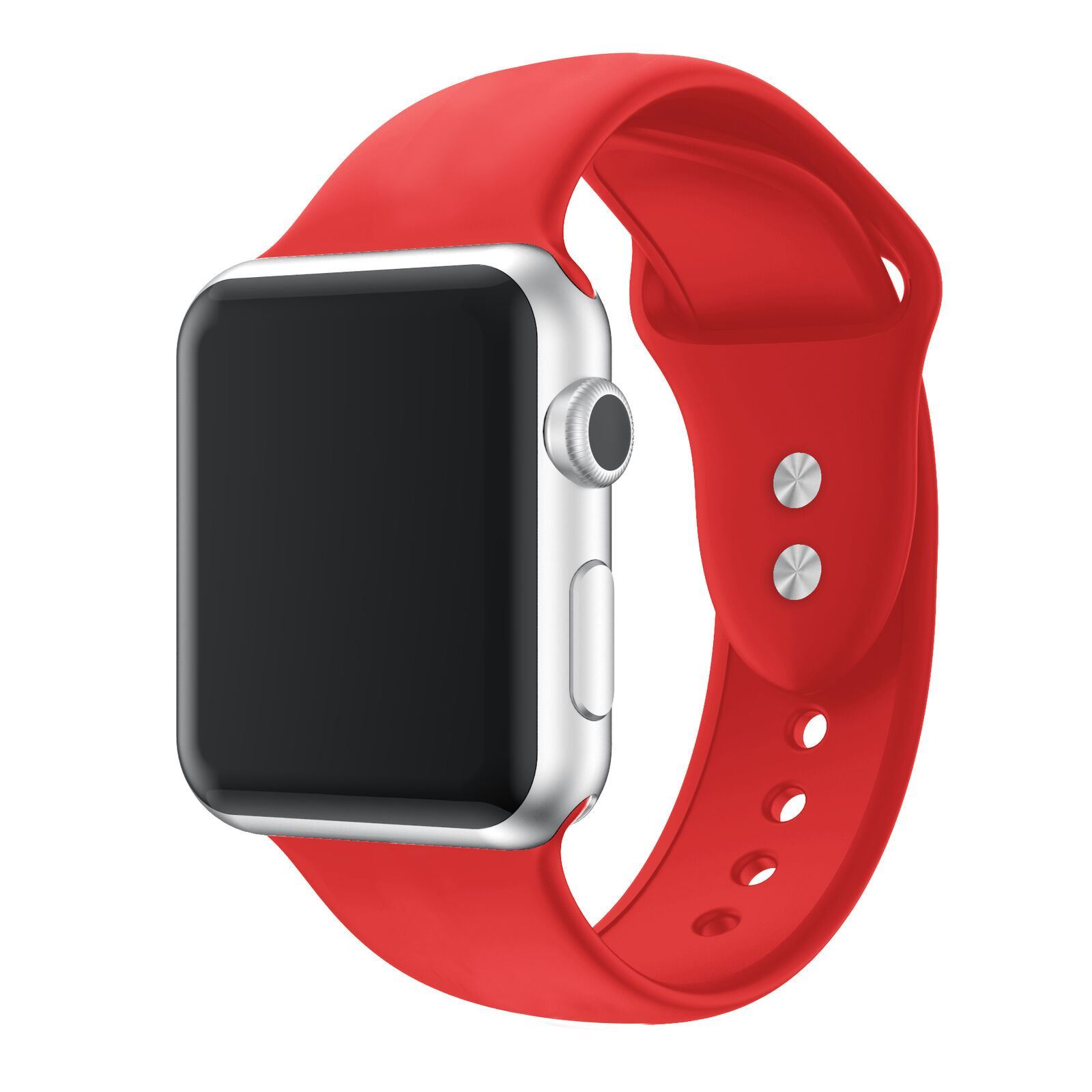 Strap-For-Apple-Watch-Silicone-Comfortable-Durable-Waterproof-Band thumbnail 31