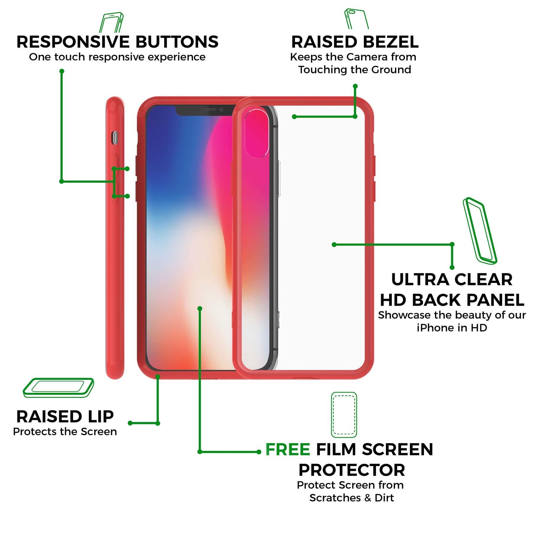 thumbnail 21 - For Apple iPhone XR Xs Max X 8 7 Plus 6 5 Se Case Cover Clear Transparent CS283