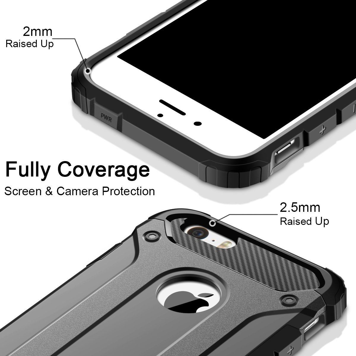Hybrid-Armor-Shockproof-Rugged-Bumper-Case-For-Apple-iPhone-10-X-8-7-Plus-6s-5s miniature 17