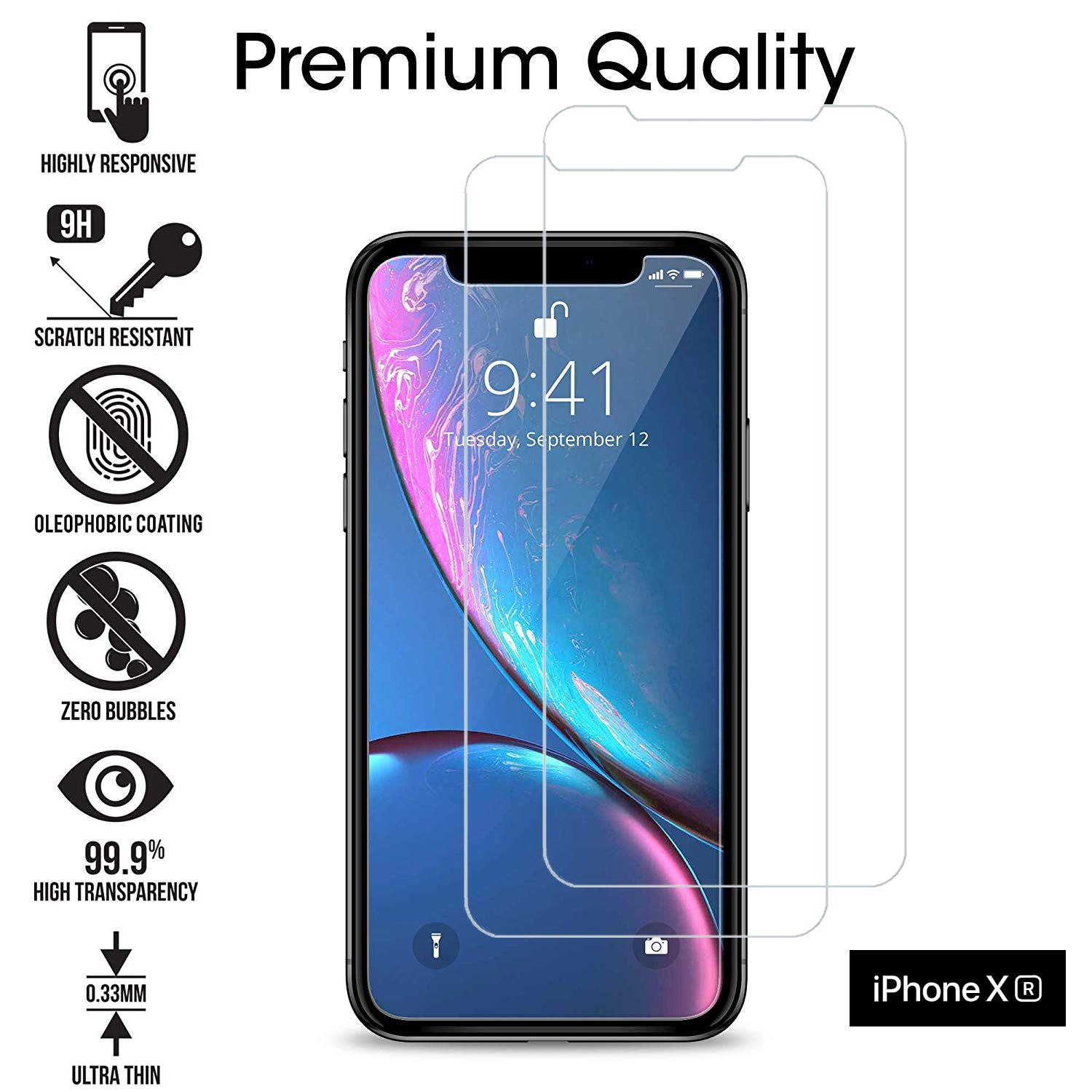 TEMPERED-GLASS-FILM-SCREEN-PROTECTOR-FOR-NEW-iPhone-XR-XS-MAX-8-7-6s-5s-2018-2PK thumbnail 35