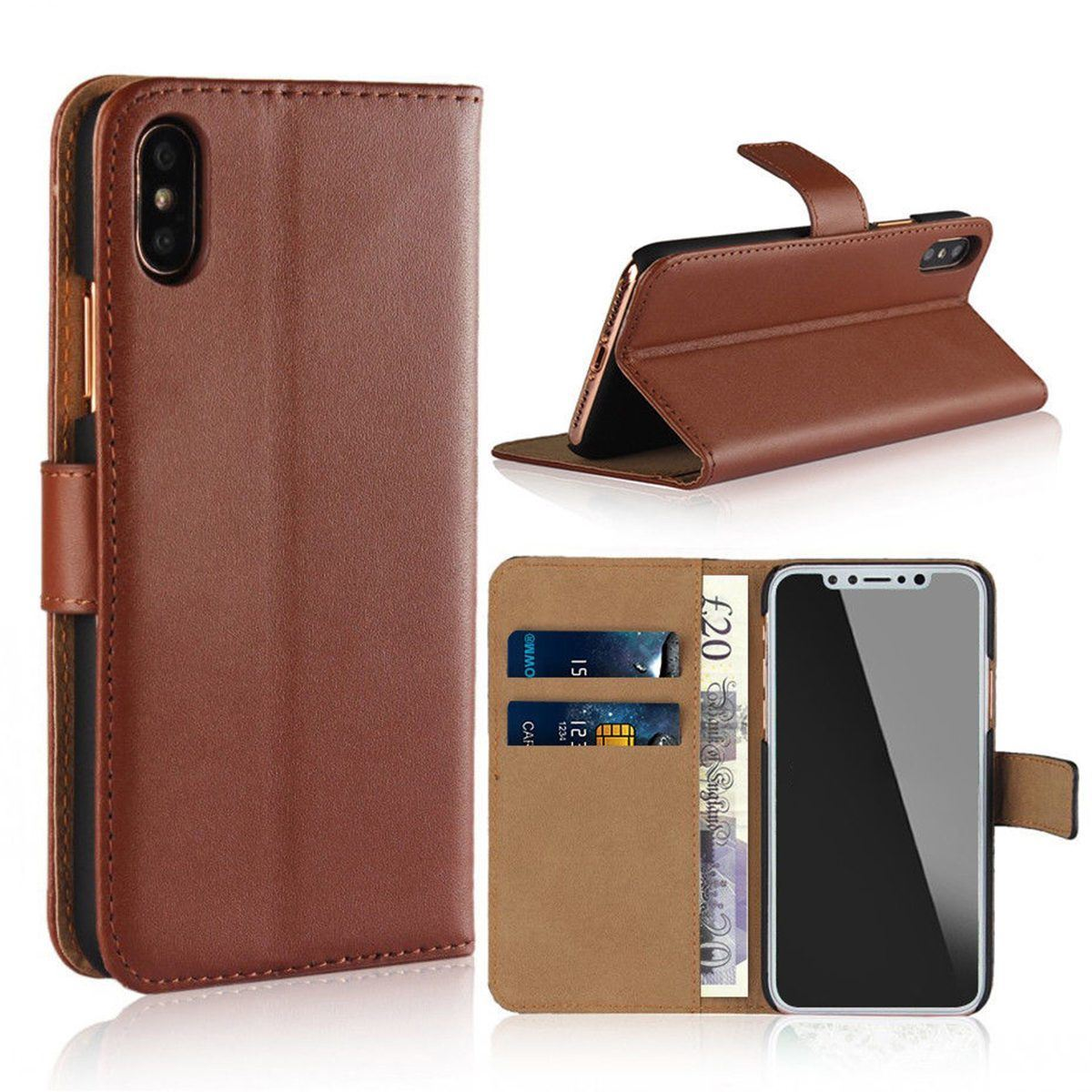 thumbnail 18 - For Apple iPhone 12 11 XR XS Max Leather Flip Wallet Magnetic Stand Card Case