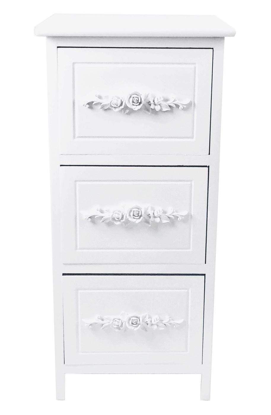 Assembled-Shabby-Chic-Rose-Design-3-Or-4-Draw-Kids-Bedside-Table-Cabinet-Unit