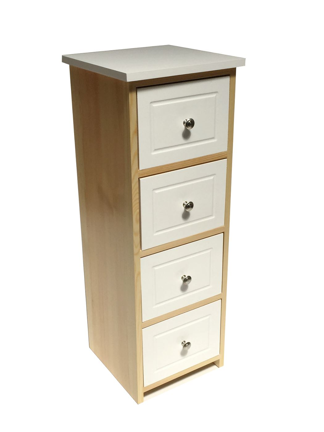 Assembled White Pine Chest Of Drawers Hallway Bedside