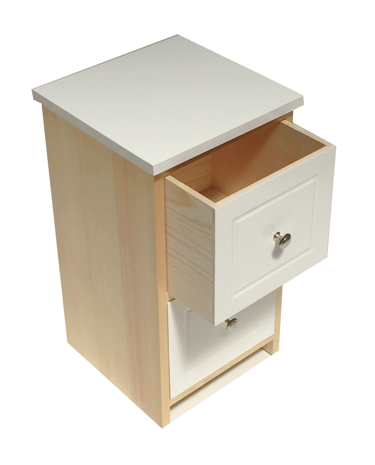 Assembled White Pine Chest of Drawers Hallway Bedside Table Storage Cabinet Unit