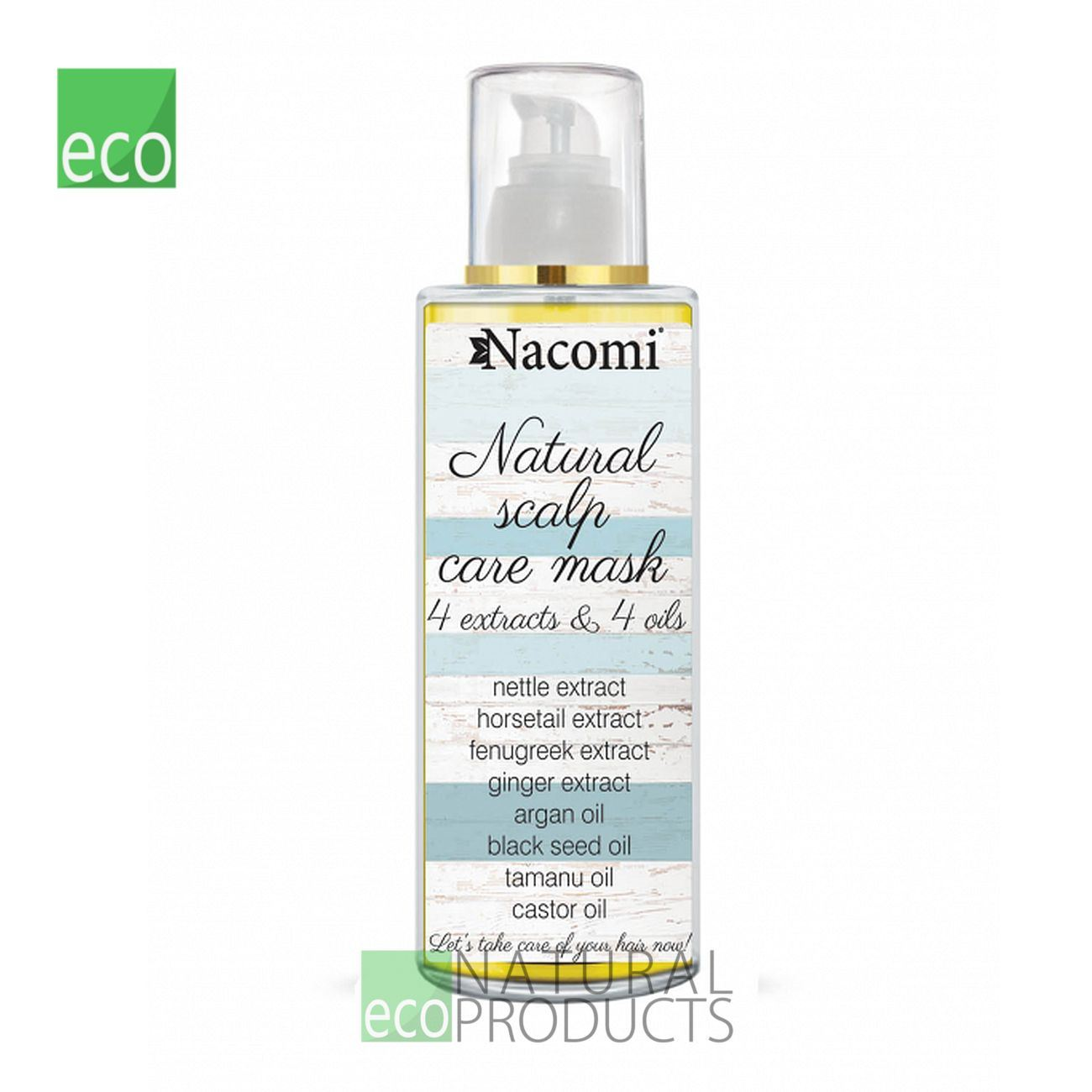 Details about Nacomi Natural Scalp Care Mask 4 Extracts and 4 Oils 50ml