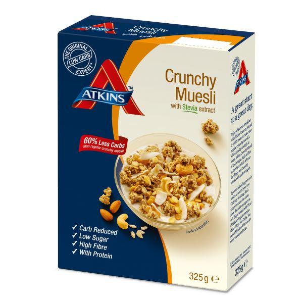 Atkins Crunchy, Low Carb, High Fibre Muesli Cereal 325g