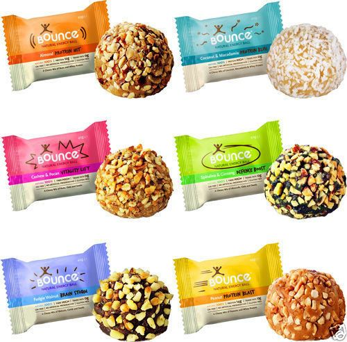 Bounce Natural Energy Balls High Protein Whey Bliss Ball X 12 All Flavours Ebay