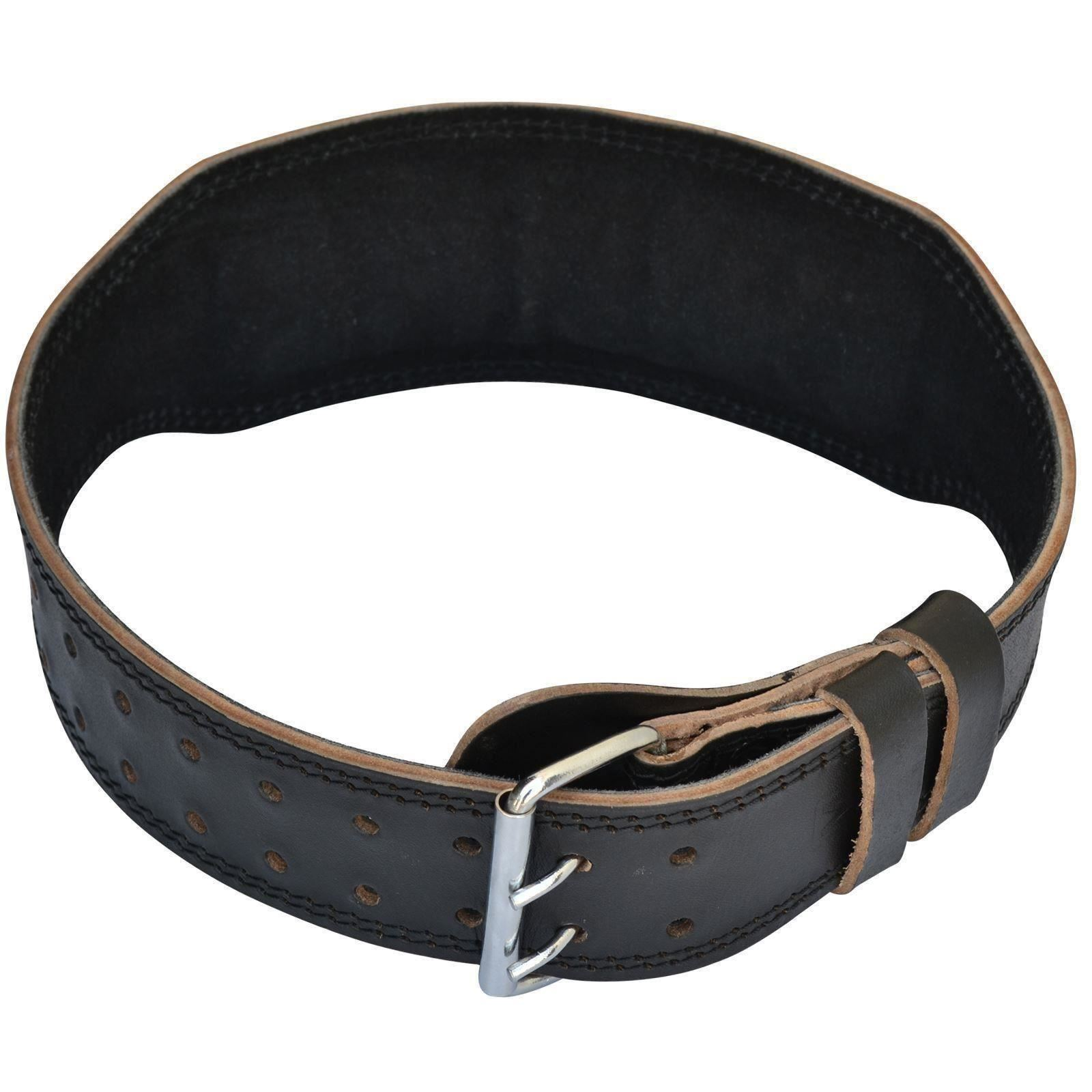 Aqf Weight Lifting Leather Belt 4 Quot Cowhide Back Support